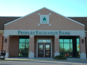 The Peoples Exchange Bank...where apparently people are exchanged.  Sounds a little sketchy.