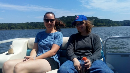 We went out on the pontoon for the afternoon to relax.